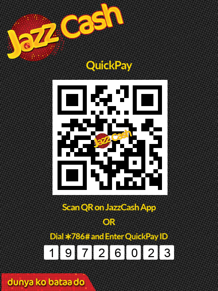 Jazz Cash Quic Pay ID 19726023