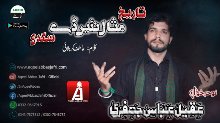 Listen / Download Tareekh Misal Nahi album of Speaker: Aqeel Abbas Jafri, Collection of Year: 2019-20 - Category: Nohay - Type: Audio, You can share with your family & friends.
